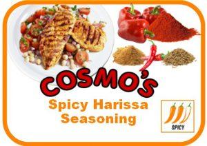 Cosmo's Spicy Harissa Label