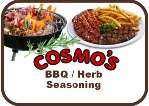 Cosmo's BBQ Herb Label