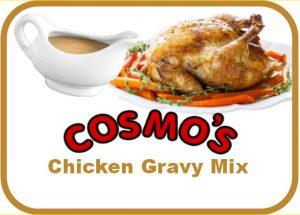 Cosmo's Chicken Gravy Label