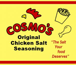 Cosmo's Original Chicken Salt Label