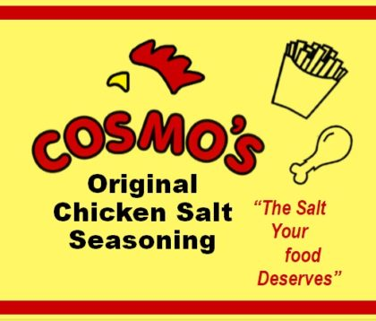 Cosmo's Original Chicken Salt Label