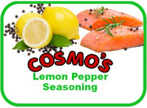 Cosmo's Lemon Pepper Label