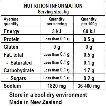 Cosmo's Smoked Salt Nutrition