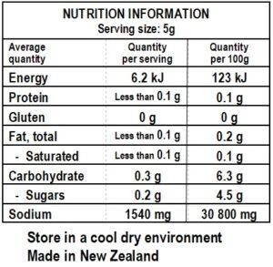 Cosmo's Salt & Vinegar Nutrition