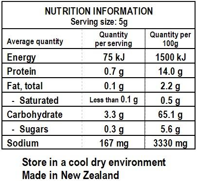 Cosmo's Lemon Pepper Nutrition